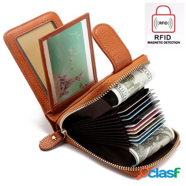 Carteira feminina tripla casual carteira de cartões e moedas