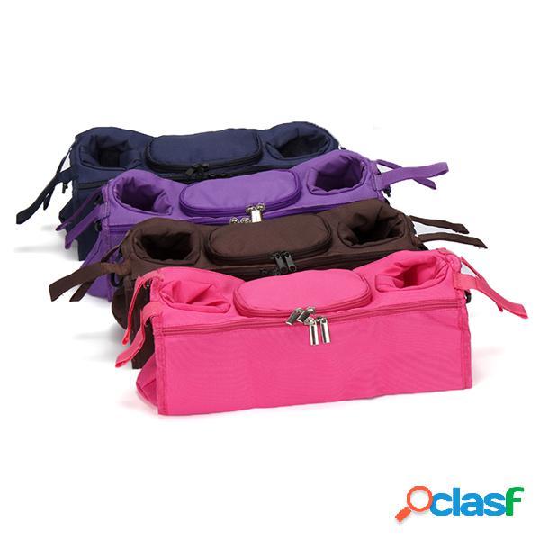 Carrinho de compras do carrinho de criança do bebê sacola da consola segura sacos de suspensão pram sacola de garrafa acessórios de carrinho de criança para crianças