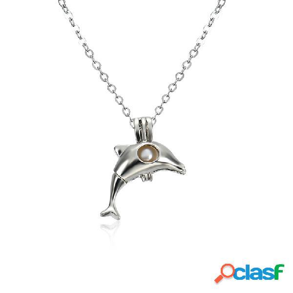 Colar de pérolas retro colar de borboleta pendente bonito para jóias para mulheres presente para homem