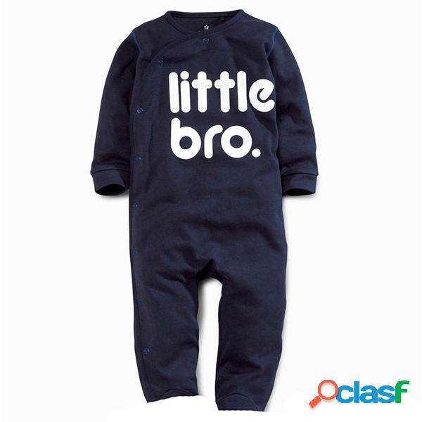 Impresso infantil crianças recém-nascidas do bebê menino menina romper outfits macacão para 0-18 m