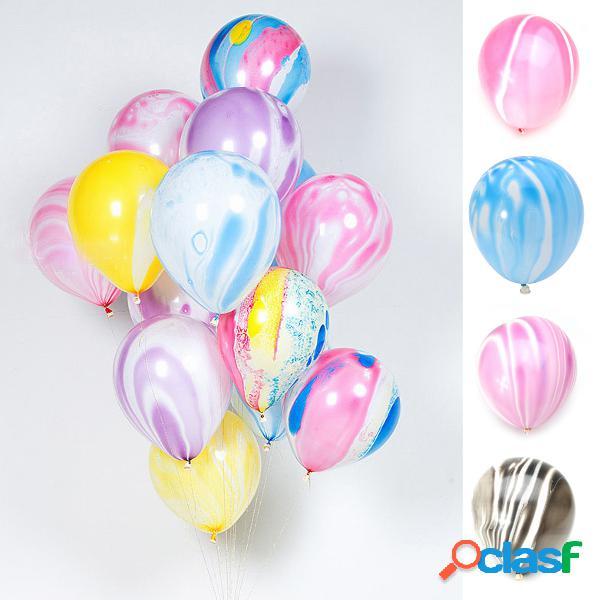 """100pcs 12 """"balões de cor de mármore balança de ágata balões de látex para festa decoração de casamento"""
