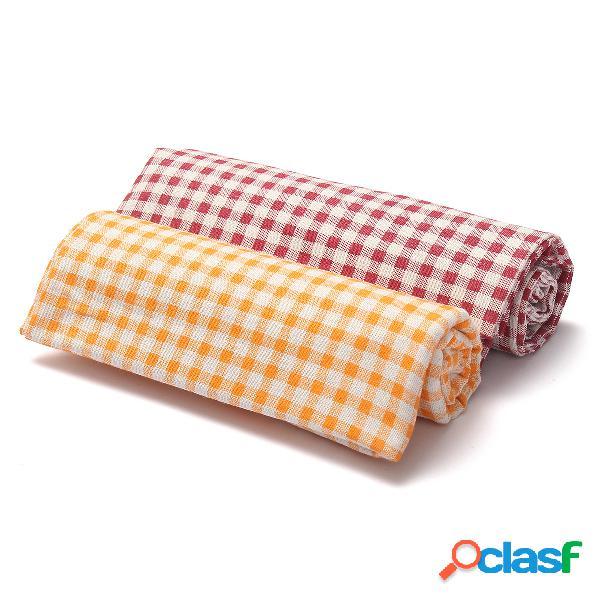 100% algodão tartan de linho padrão tecido de costura material artesanal 100x155cm