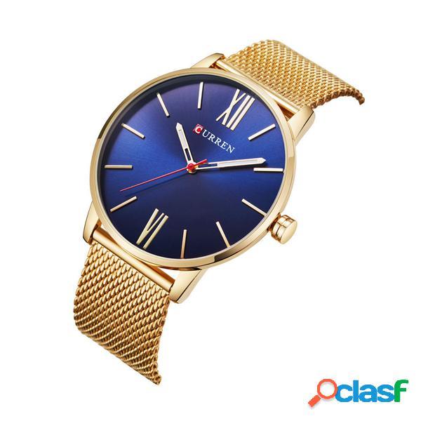 Curren relógio luxuoso impermeável ultra-fino masculino
