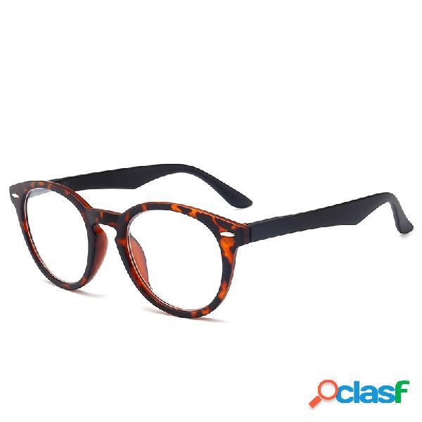Óculos de leitura vintage elástico armação total pc lente hd