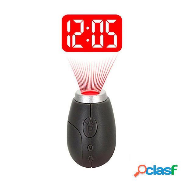 Vst cl-001 eletrônico mini portátil digital led projeção relógio de tempo com chaveiro para birthd do miúdo