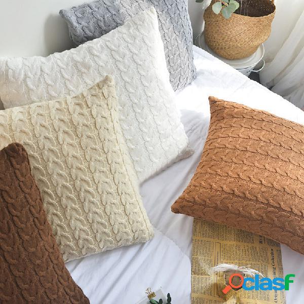 100% algodão malha capas de almofada decorativa stretchable fronha para sala de estar do carro escritório