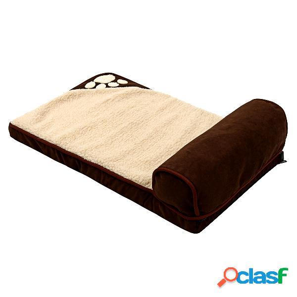 Extra grande jumbo esponja ortopédica cão de estimação cão cama cestas inverno quente canil