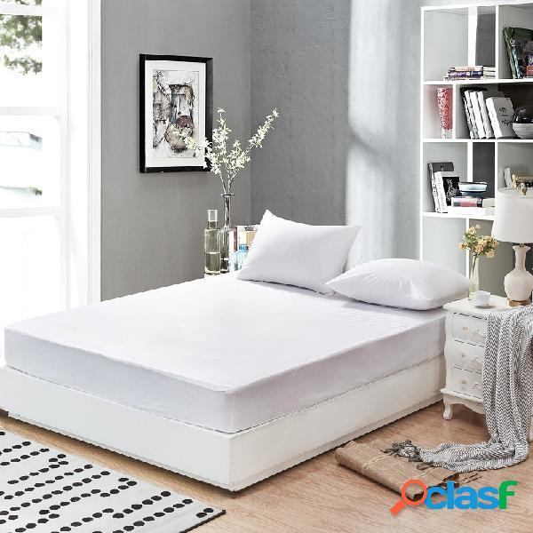 Matress branco matelas suaves à prova d 'água colchão protetor capa respirável anti-ácaro conjuntos de cama