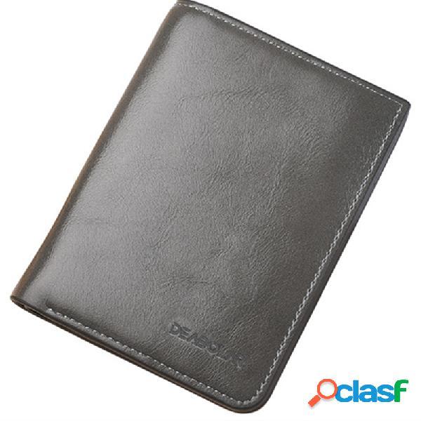 Carteira ocasional dos sacos da moeda da carteira curta do cartão do negócio 8 do plutônio para homens