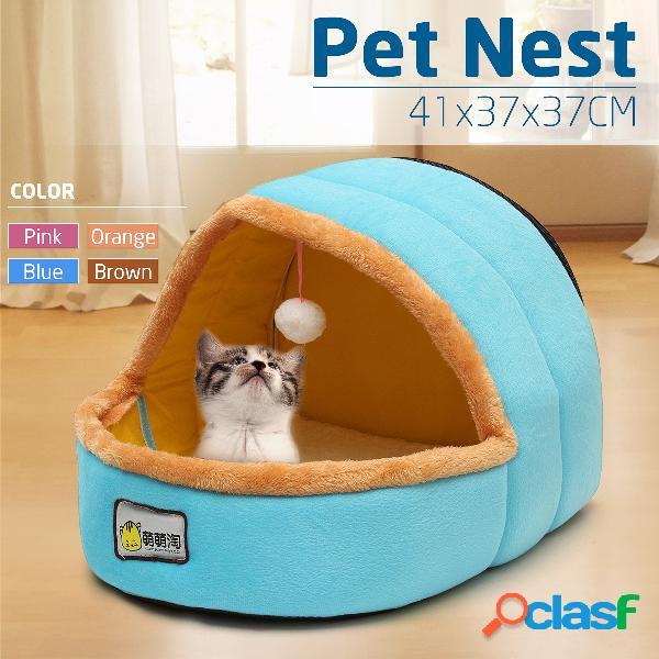 37x37x41 cm mongol canil cat pet ninho cão pet camas quentes casa de algodão filhote de cachorro esteiras