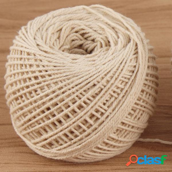 100 m de algodão natural corda clipe cabo torcido craft macrame 1-3mm stringcotton