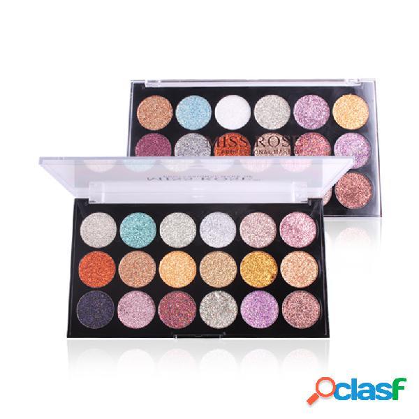 Paleta de sombra de glitter 18 cores shimmer paleta de sombras long-lasting highlighter eyeshadow