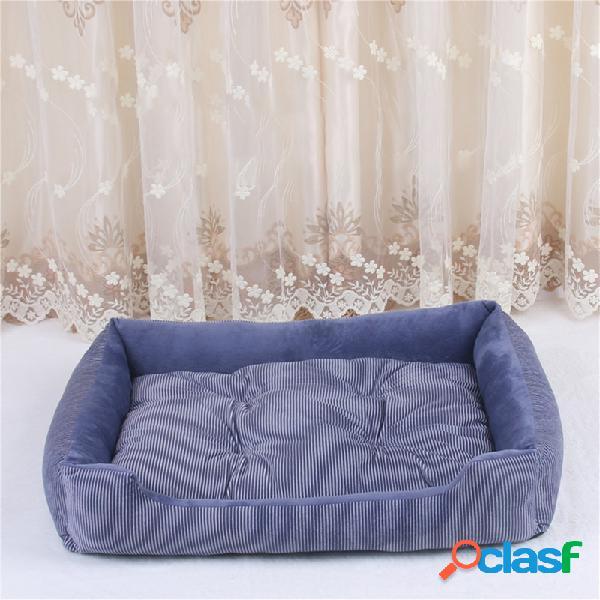 4 cores de cristal de veludo pet sofá cama cão gato dormir cama canil para cães de médio grande
