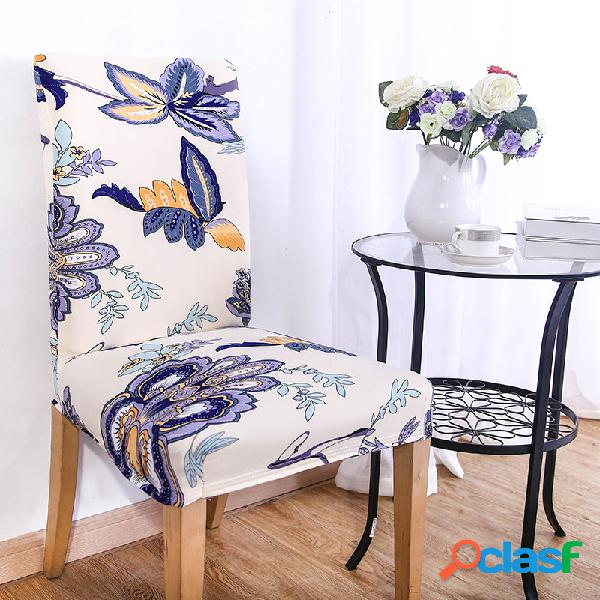 Kcasa wx-pp3 elegante flor elastic trecho cadeira tampa de assento sala de jantar decoração de casamento em casa