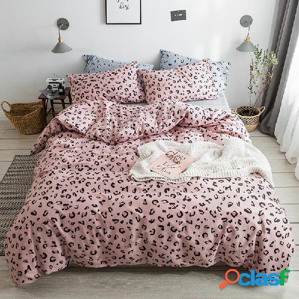 3 / 4pcs 100% algodão conjunto de cama king queen gêmeo duvet quilt capa folha de cama fronha