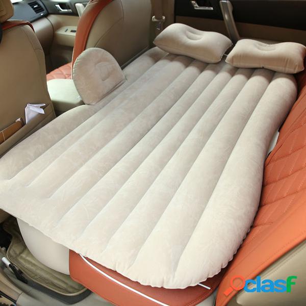 Carro inflável suv mpv assento traseiro colchão air folding bed rest sleep acampamento + travesseiros