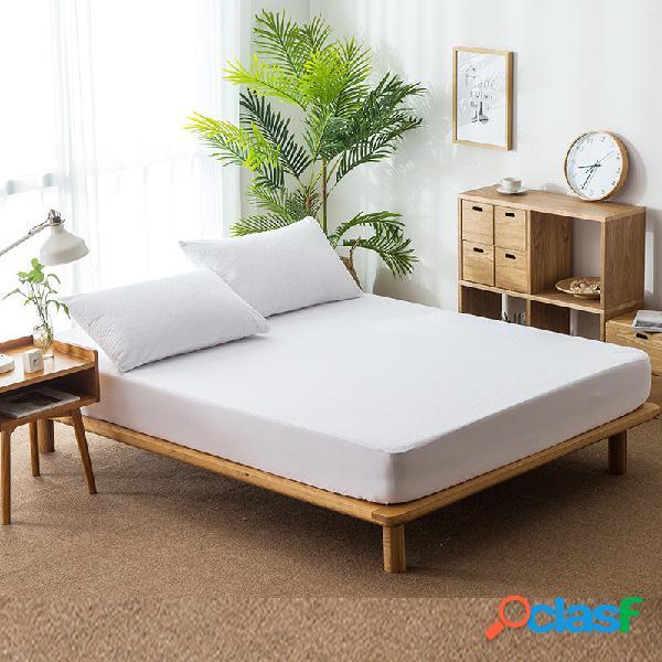 Protetor de colchão à prova d 'água capa lisa anit-mite respirável cama capa bebê urina pad