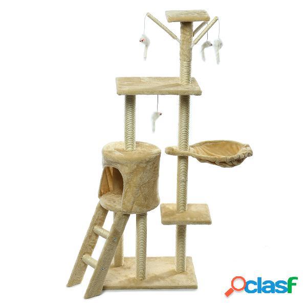Gato de estimação arranhando o brinquedo da casa da mobília academia de pólo do arranhador da árvore do cargo
