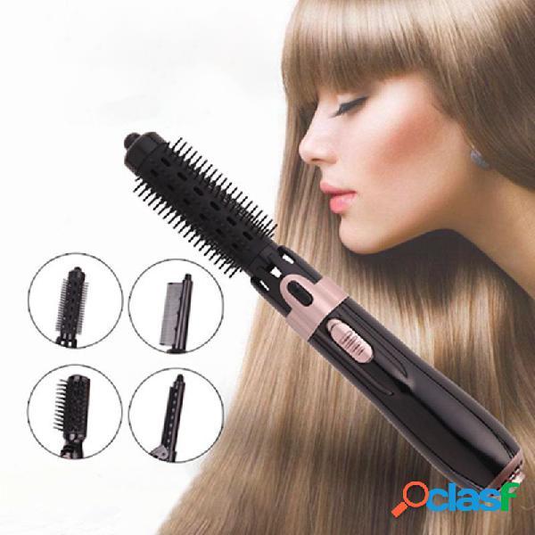 Pente multifuncional para ar quente 4-em-1 íon negativo úmido e seco cabelo secador cabelo modelador cabelo secador secador