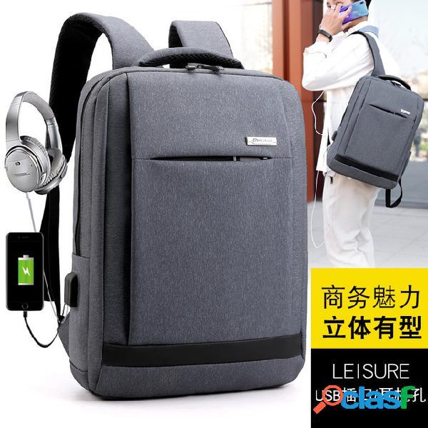 Mochila masculina bolsa tendência da moda dos homens youth lazer simples mochila de viagem de estudante universitário computador bolsa