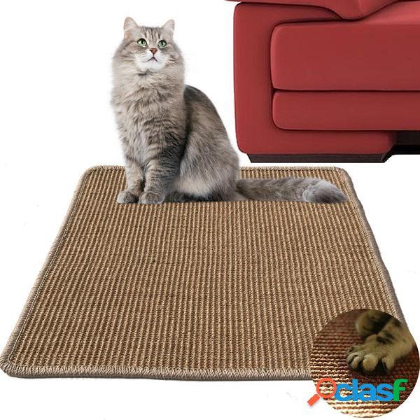 Brinquedo do gato garras pad guard mesa pernas pet tapete sofá saver criativo pad sisal cat scratch board