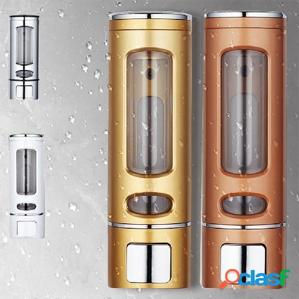Distribuidor sabão do distribuidor do champô da cozinha banheiro do líquido sabão da montagem da parede 400ml