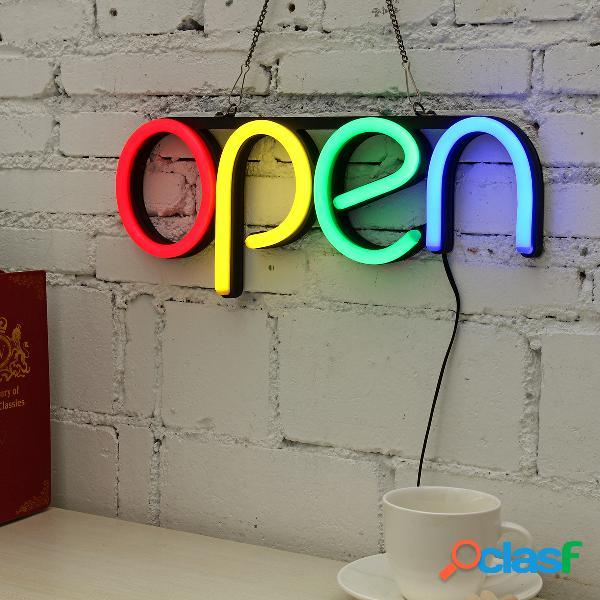 Open led tubo de sinal de néon luz artesanal visual artwork bar pub clube pendurado decoração da lâmpada de parede