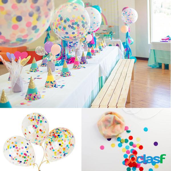 """Diy 12 """"36"""" balões de látex claro gigante confetti ballon festa fornecimento hélio flutuador"""