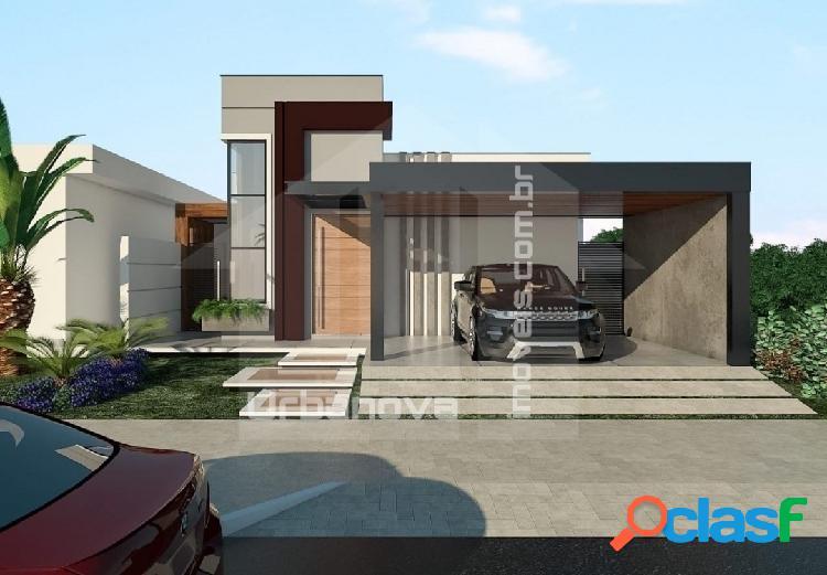 Bela casa térrea moderna com 3 suítes no urbanova