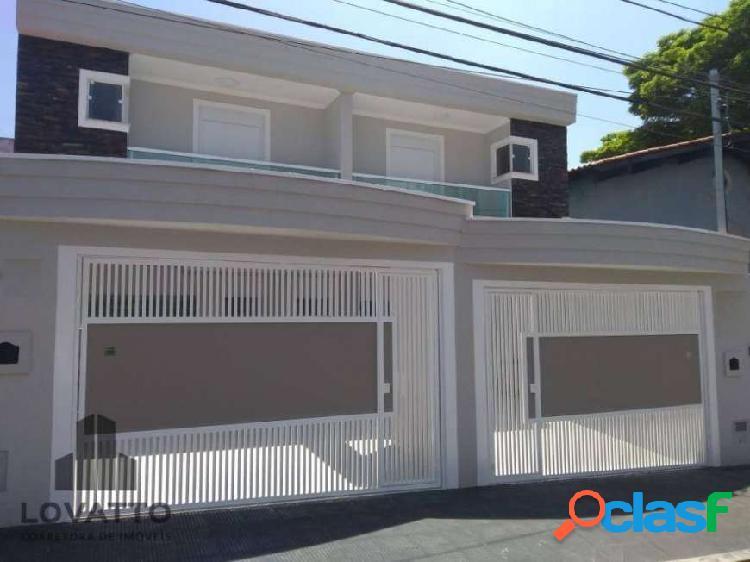 Santo andre sobrado com 3 quartos à venda, 140 m² por r$ 760.000