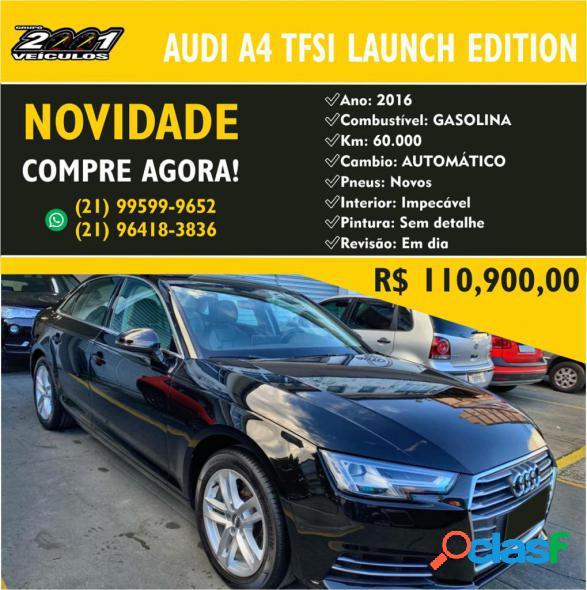 Audi a4 launch edition 2.0 tfsi 190cv s troni preto 2016 2.0 gasolina
