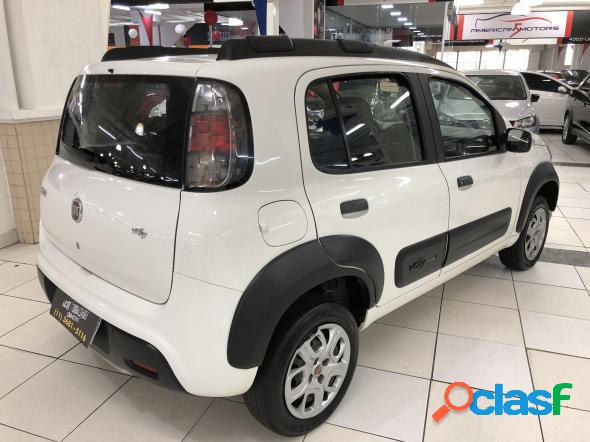 Fiat uno way 1.0 flex 6v 5p branco 2018 1.0 flex