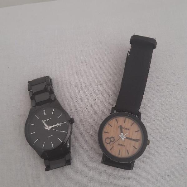 2 relógios de pulso pelo preço de 1