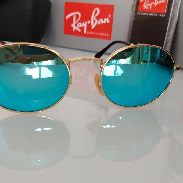Achouu !!! maravilhoso oculos ray ban round novo na caixa