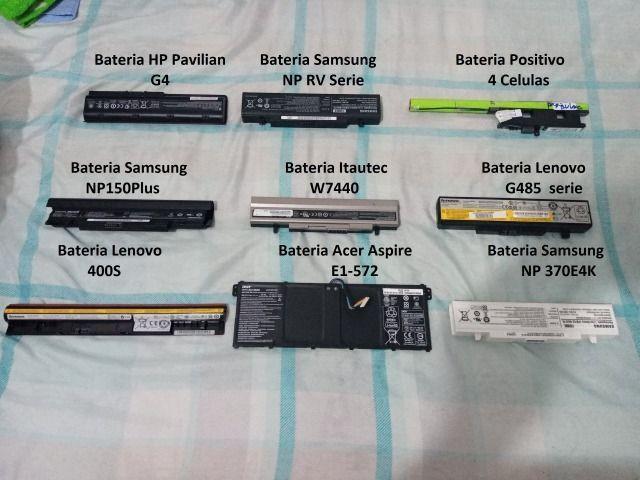 Bateria notebook vários modelos: