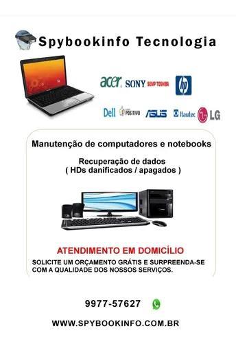 Conserto de computadores, notebooks e recuperação de