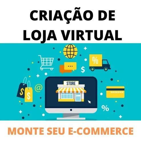 Criação de loja virtual e-commerce moderno e responsivo -