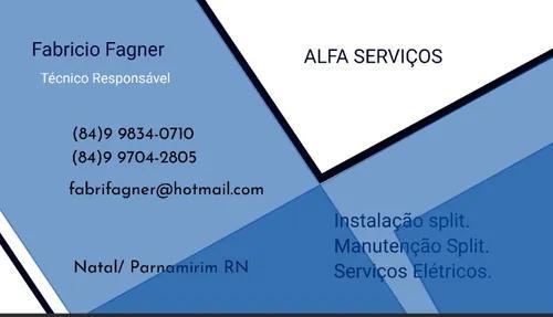 Instalação, manutenção de split, serviços elétricos.