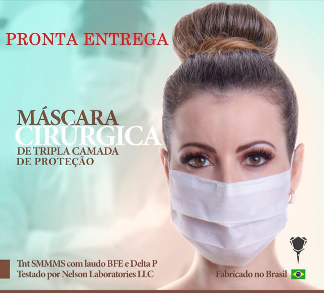Máscaras cirúrgicas smmms - protectpro caixa 50 peças