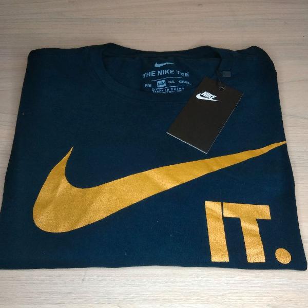 Nike camiseta g maculina nova azul escuro