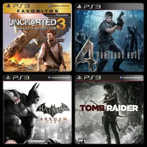 Pacote com 8 jogos ps3 mídia digital +2 gratis