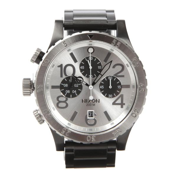 Relógio nixon preto com prata 100% original modelo