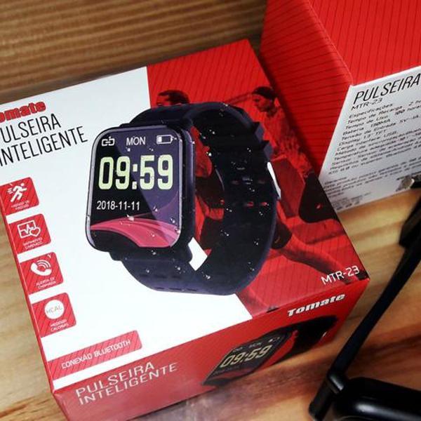 Relógio com monitor cardíaco, pressão e oxímetro mtr-23