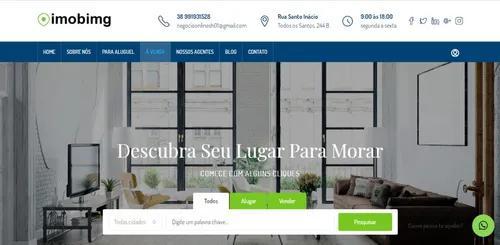 Site profissional para corretor imobiliário + chat