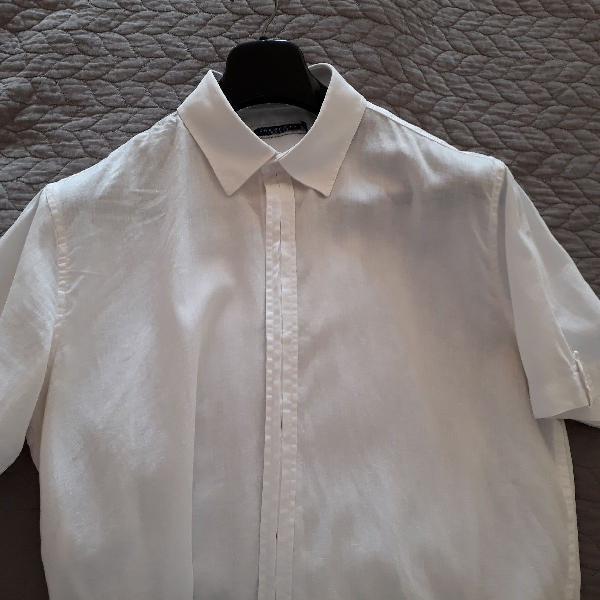 Camisa m/c linho crawford