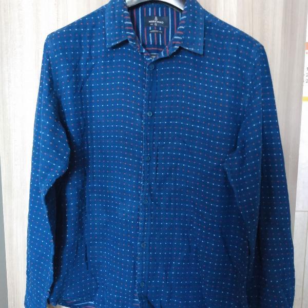 Camisa azul marinho, comfort fit