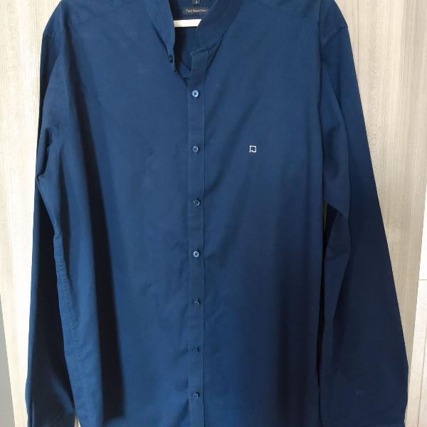 Camisa azul marinho social, n4