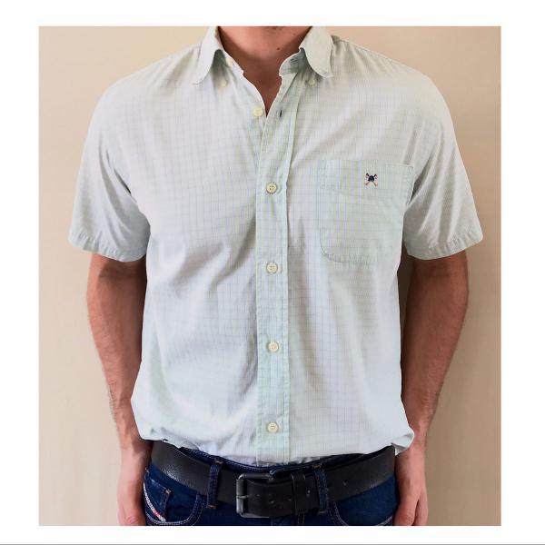 Camisa masculina manga curta clássica xadrez