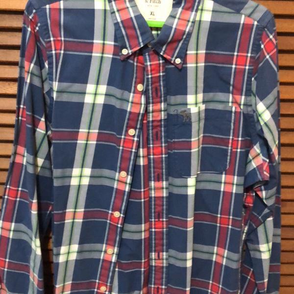 camisa masculina xadrez abercrombie & fitch
