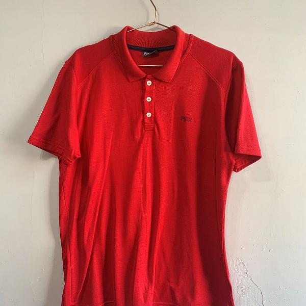 Camisa polo vermelho fila